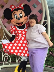 Leah and Minnie Mouse